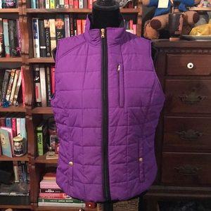 Lauren by Ralph Lauren purple vest.